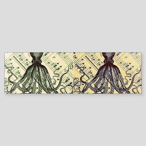 vintage nautical steampunk octopus Bumper Sticker