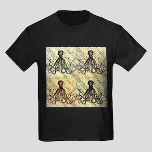 vintage nautical steampunk octopus T-Shirt