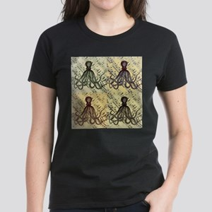 vintage nautical steampunk octopus T-Shirt