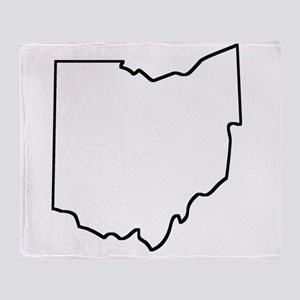 Ohio Outline Throw Blanket