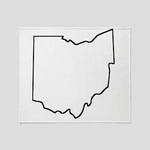 Ohio Outline Throw Blanket