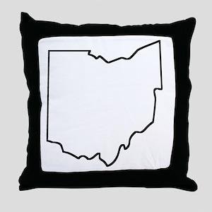 Ohio Outline Throw Pillow