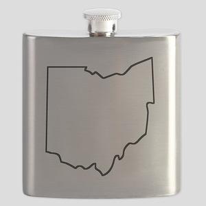 Ohio Outline Flask