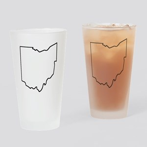 Ohio Outline Drinking Glass