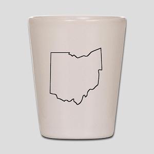 Ohio Outline Shot Glass