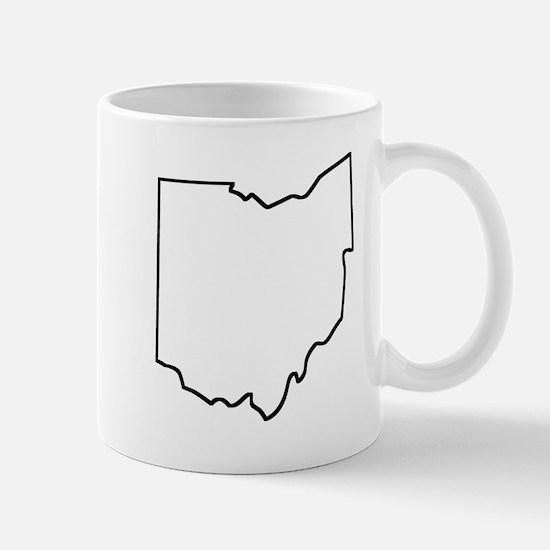 Ohio Outline Mugs