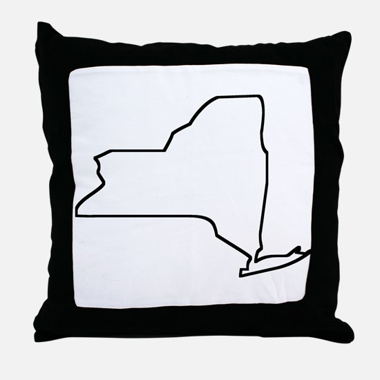New York Outline Throw Pillow