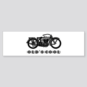 Vintage Motorcycle-Old's Cool! Bumper Sticker