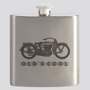 VINTAGE MOTORCYCLE-OLD'S COOL! Flask