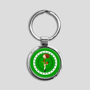 Irish Dancing Round Keychain Keychains