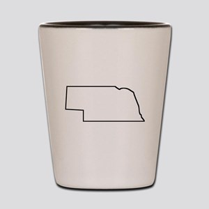 Nebraska Outline Shot Glass