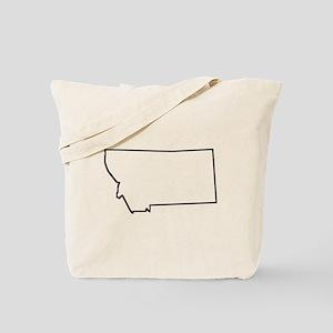 Montana Outline Tote Bag