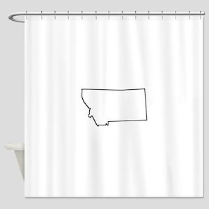 Montana Outline Shower Curtain