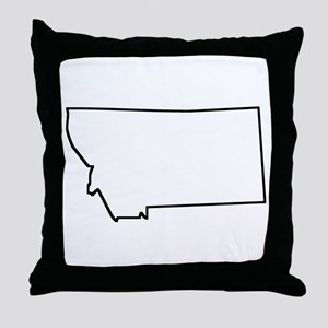 Montana Outline Throw Pillow