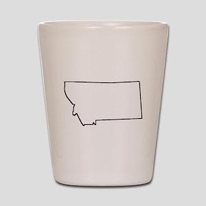 Montana Outline Shot Glass