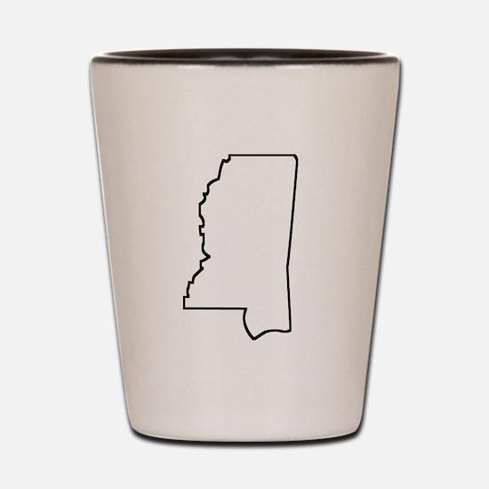 Mississippi Outline Shot Glass