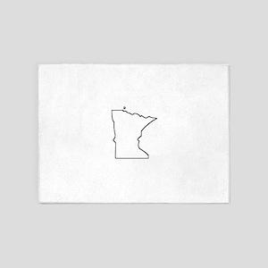 Minnesota Outline 5'x7'Area Rug