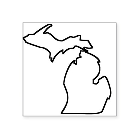 Michigan Outline Sticker By Statesoftheusa
