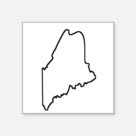 Maine Outline Sticker