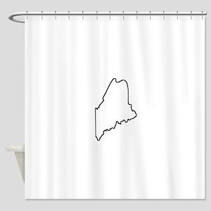 Maine Outline Shower Curtain