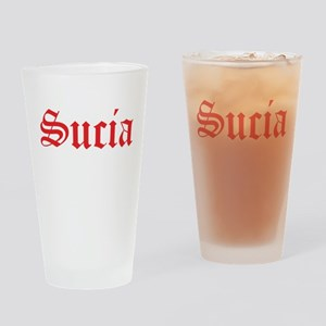 2-suciared Drinking Glass