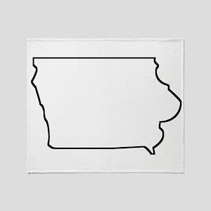 Iowa Outline Throw Blanket