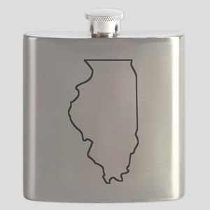 Illinois Outline Flask