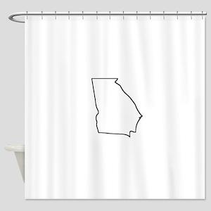 Georgia Outline Shower Curtain