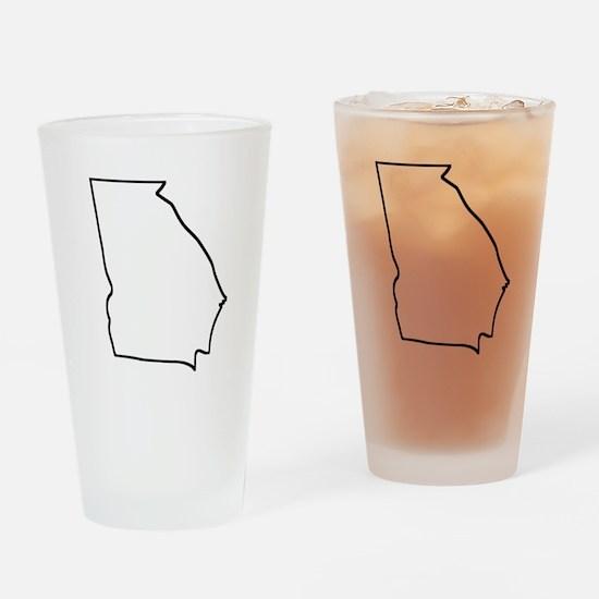 Georgia Outline Drinking Glass