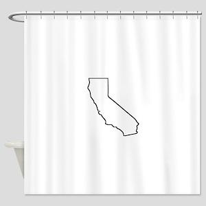 California Outline Shower Curtain