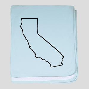 California Outline baby blanket