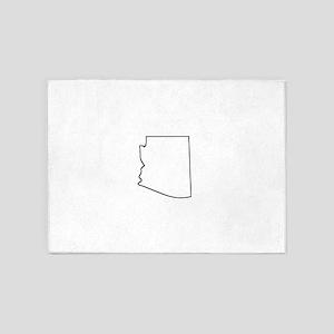 Arizona Outline 5'x7'Area Rug
