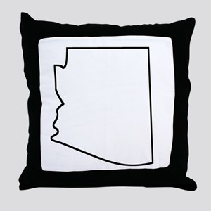 Arizona Outline Throw Pillow