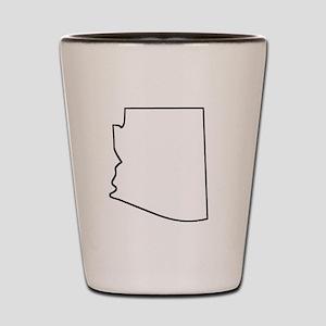 Arizona Outline Shot Glass