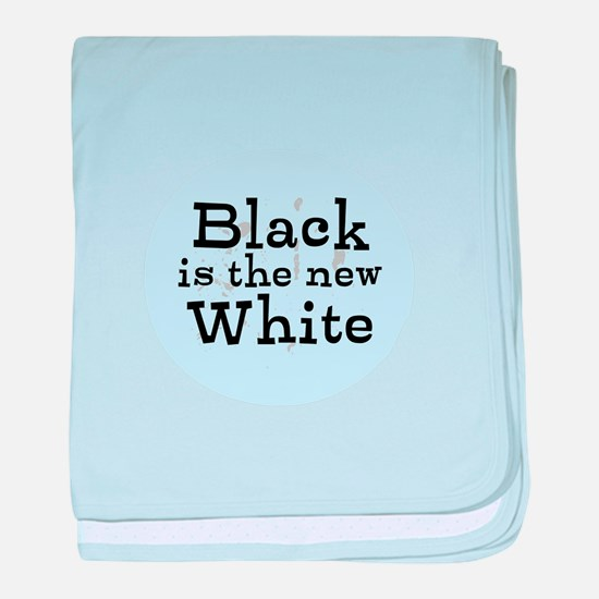 Black is the new White baby blanket