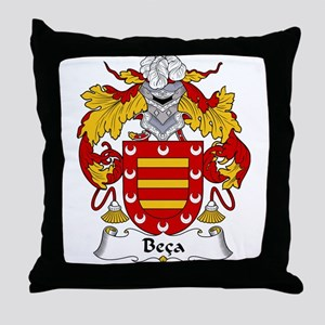 Beca Family Crest  Throw Pillow