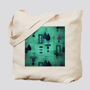 Atomic Age in Teal. Tote Bag