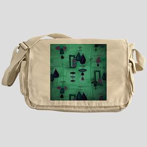 Atomic Age in Teal. Messenger Bag