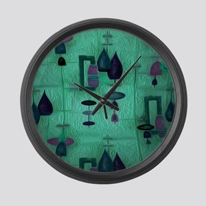 Atomic Age in Teal. Large Wall Clock