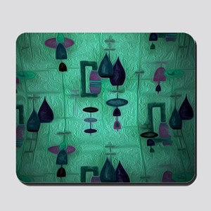 Atomic Age in Teal. Mousepad