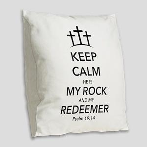 My Redeemer Burlap Throw Pillow