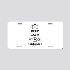 My Redeemer Aluminum License Plate
