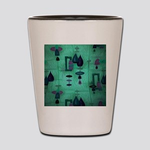 Atomic Age in Teal. Shot Glass