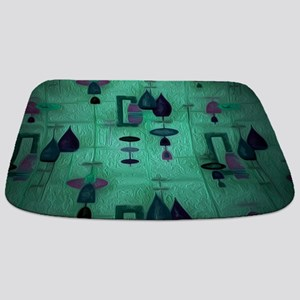 Atomic Age in Teal. Bathmat