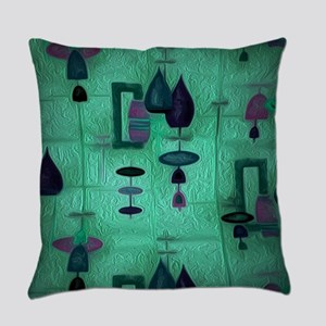 Atomic Age in Teal. Everyday Pillow