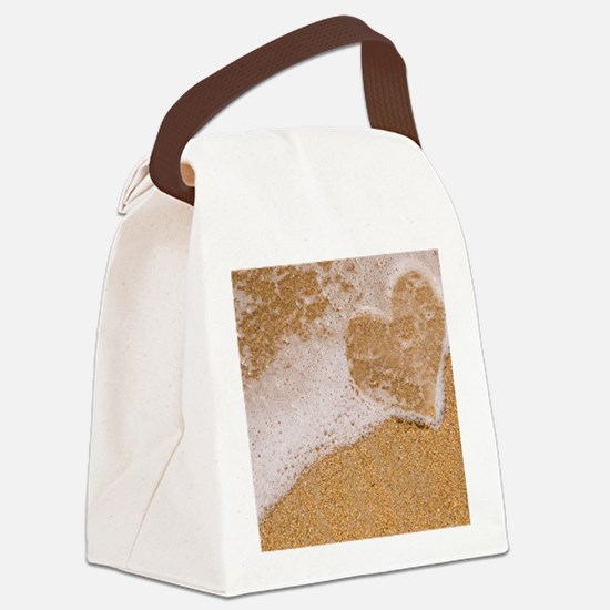 Sand Canvas Lunch Bag