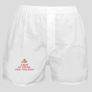 Keep calm by visiting Corey Creek Bea Boxer Shorts