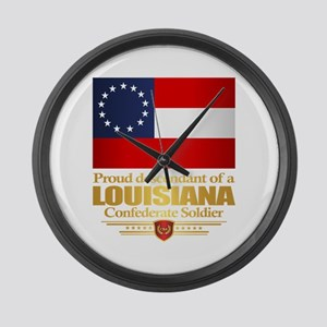 Louisiana Proud Descendant Large Wall Clock