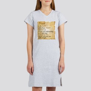 PROVERBS 3:5-6 - TRUST IN THE L Women's Nightshirt