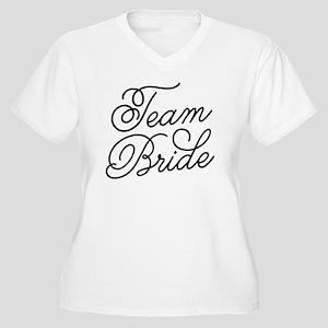 Team Bride Women's Plus Size V-Neck T-Shirt